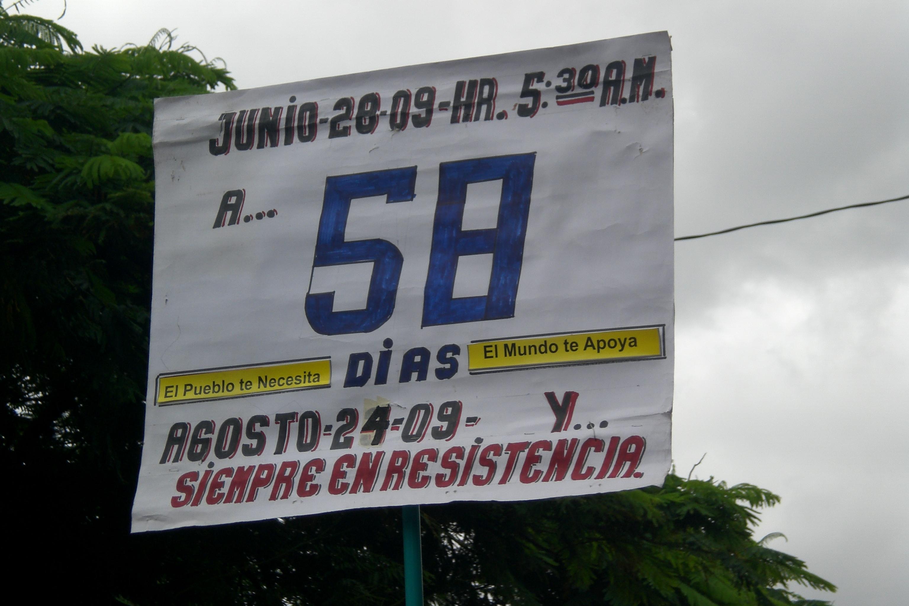 58 días en la calle
