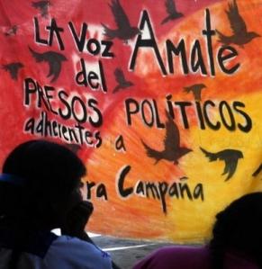 Presos  políticos en huelga de hambre, Chiapas, México