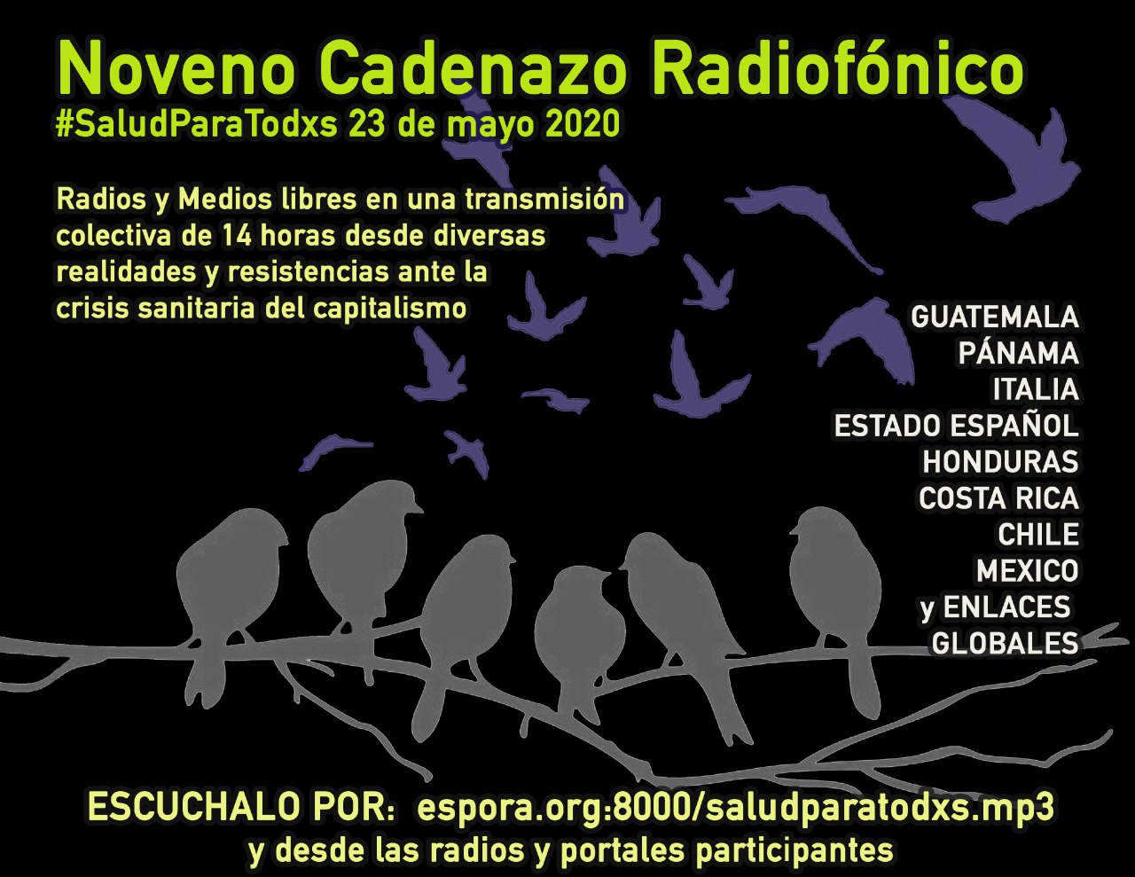 Reporte Radio 8 de Octubre para el 9no Cadenazo Radiofónico por la Salud y la Vida de Todxs