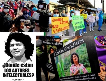HONDURAS. Corrupción, narco-dictadura y Justicia para Berta en el marco del COVID-19
