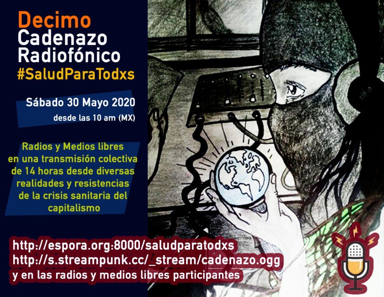 Reporte Radio 8 de Octubre para 10mo Cadenazo Radifónico por la Salud y la Vida de Todxs