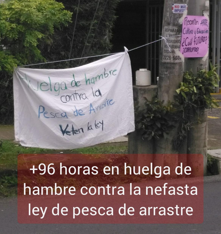 COSTA RICA. Dos mujeres cumplen +96 horas en huelga de hambre en protesta contra la ley de pesca de arrastre