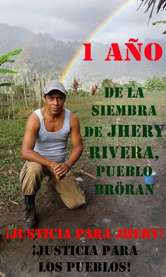 COSTA RICA. Se cumplen 12 meses del asesinato de Jhery Rivera, pueblo Bröran, y su asesino confeso sigue libre