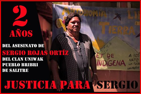 COSTA RICA. A 2 años de la siembra anticipada de Sergio Rojas Ortíz, defensor de los derechos de los pueblos originarios